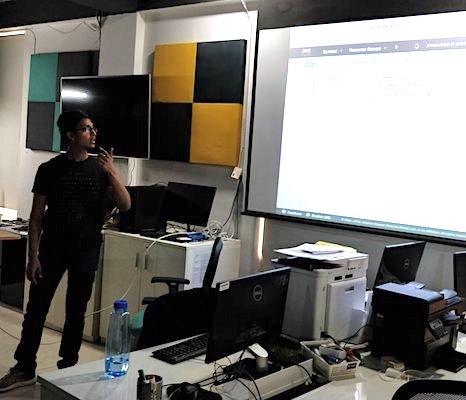 Danish presenting about Alexa integration