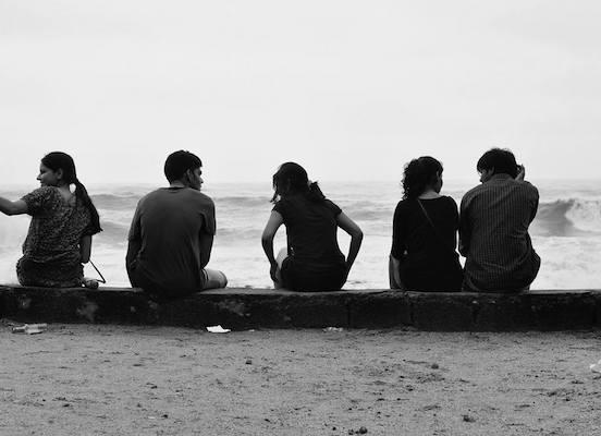 Aditi with friends